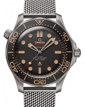 "Omega Seamaster Diver 300M Titanium ""No Time To Die"" James Bond 007 Edition 42mm Mesh Bracelet  210.90.42.20.01.001 - BRAND NEW"
