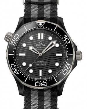 Omega Seamaster Diver 300M Co‑Axial Master Chronometer Ceramic Black Dial & Bezel NATO Strap 44mm 210.92.44.20.01.002 - BRAND NEW