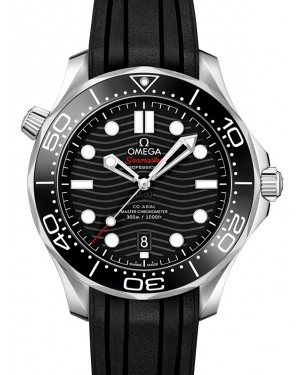Omega Seamaster Diver 300M Co‑Axial Master Chronometer Stainless Steel Black Dial & Ceramic Bezel Rubber Strap 42mm 210.32.42.20.01.001 - BRAND NEW