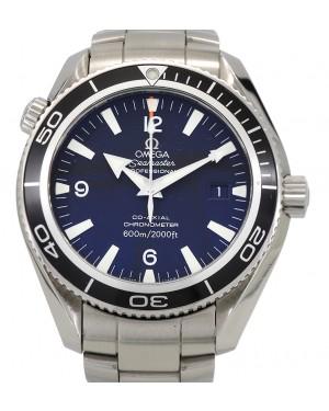 Omega Seamaster Planet Ocean 600M Stainless Steel Black Dial Rotating Bezel & Steel Bracelet 2201.50.00 - PRE-OWNED
