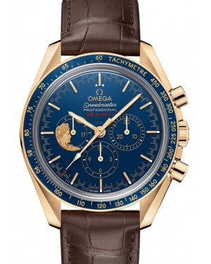 Omega Speedmaster Moonwatch Anniversary Limited Series Yellow Gold Blue Dial & Ceramic Bezel Leather Strap 42mm 311.63.42.30.03.001 - BRAND NEW