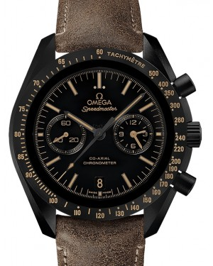 Omega Speedmaster Moonwatch Co-Axial Chronograph Ceramic Black Dial & Ceramic Bezel Leather Strap 44.25mm 311.92.44.51.01.006 - BRAND NEW