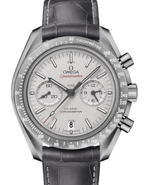 Omega Speedmaster Moonwatch Co-Axial Chronograph Ceramic Grey Dial & Ceramic Bezel Leather Strap 44.25mm 311.93.44.51.99.002 - BRAND NEW