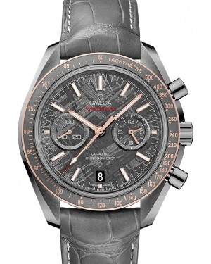 Omega Speedmaster Moonwatch Co-Axial Chronograph Ceramic Grey Dial & Gold Bezel Leather Strap 44.25mm 311.63.44.51.99.001 - BRAND NEW