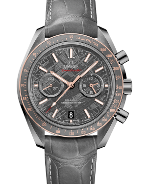 "Omega Speedmaster ""Moonwatch"" Co-Axial Chronograph Meteorite Dial Grey Ceramic Leather Strap 311.63.44.51.99.002 - BRAND NEW"