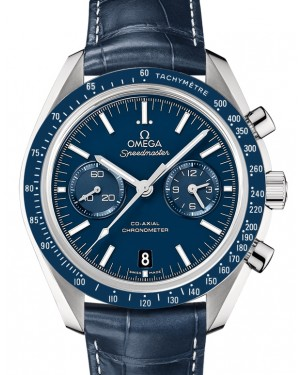 Omega Speedmaster Moonwatch Co-Axial Chronograph  Titanium Blue Dial & Ceramic Bezel Leather Strap 44.25mm 311.93.44.51.03.001 - BRAND NEW