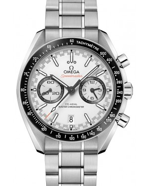 Omega Speedmaster Racing Co‑Axial Master Chronometer Chronograph Stainless Steel White Dial & Ceramic Bezel Steel Bracelet 44.25mm 329.30.44.51.04.001 - BRAND NEW