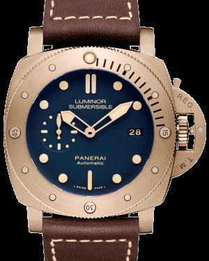 Panerai PAM 671 Luminor Submersible 1950 3 Days Automatic Bronzo Blue Bronze Leather 47mm BRAND NEW