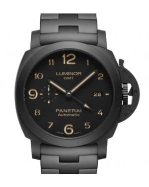 Panerai Luminor Tuttonero GMT Matt Black Ceramic 44mm Black Dial Ceramic Bracelet PAM01438 - BRAND NEW