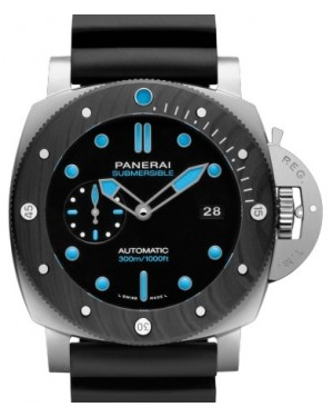 Panerai PAM 799 Submersible BMG-Tech™ Stainless Steel Black Index / Dot Dial & Carbotech Rubber Bracelet 47mm - BRAND NEW