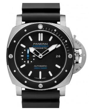 Panerai Submersible Amagnetic Titanium 47mm Black Dial Rubber Strap PAM01389 - BRAND NEW