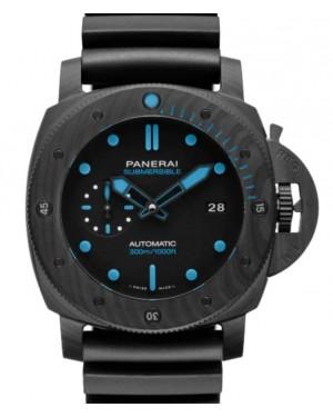 Panerai Submersible Carbotech™ Carbon Fibre 47mm Black Dial Rubber Strap PAM01616 - BRAND NEW