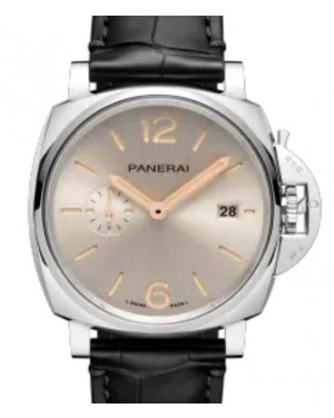 Panerai Luminor Due Stainless Steel 42mm White Dial Alligator Leather Strap PAM01249 - BRAND NEW