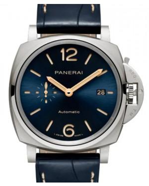Panerai Luminor Due Titanium 42mm Blue Dial Alligator Leather Strap PAM00927 - BRAND NEW
