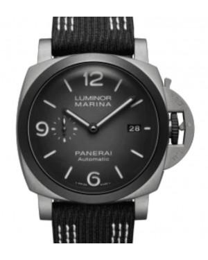 Panerai Luminor Marina Guillaume Nery Edition Titanium 44mm Black Dial Recycled PET Nylon Strap PAM01122 - BRAND NEW