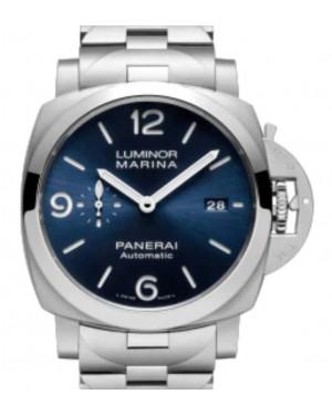 Panerai Luminor Marina Specchio Blu Stainless Steel 44mm Blue Dial Steel Bracelet PAM01316 - BRAND NEW