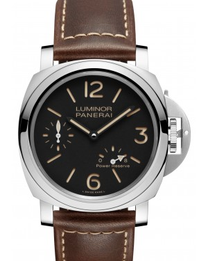Panerai PAM 00795 Luminor 8 Days Power Reserve Stainless Steel Black Arabic/Index Dial Leather Strap 44mm - BRAND NEW