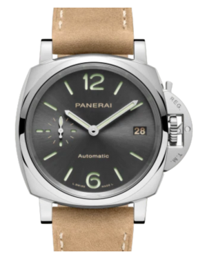 Panerai Luminor Piccolo Due Stainless Steel 38mm Black Dial Leather Strap PAM00755 - BRAND NEW