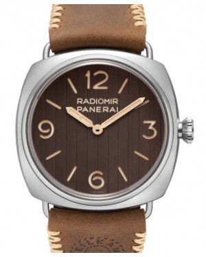 Panerai Radiomir Eilean Stainless Steel 45mm Brown Dial Leather Strap PAM01243 - BRAND NEW