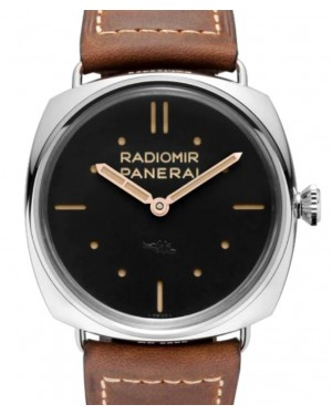 Panerai Radiomir S.L.C. Stainless Steel 47mm Black Dial Leather Strap PAM00425 - BRAND NEW