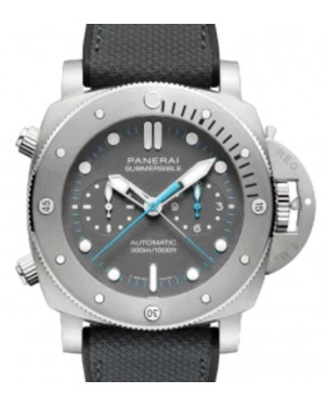 Panerai Submersible Chrono Flyback Jimmy Chin Edition Titanium 47mm Grey Dial Textile Fabric Rubber Strap PAM01207 - BRAND NEW