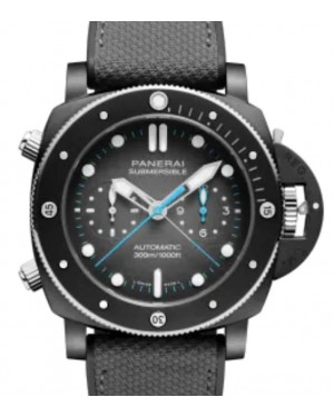 Panerai Submersible Chrono Flyback Jimmy Chin Edition Titanium 47mm Grey Dial Textile Fabric Rubber Strap PAM01208 - BRAND NEW
