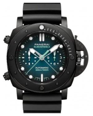 Panerai Submersible Chrono Guillaume Nery Edition Titanium 47mm Blue Dial Rubber Strap PAM00983 - BRAND NEW