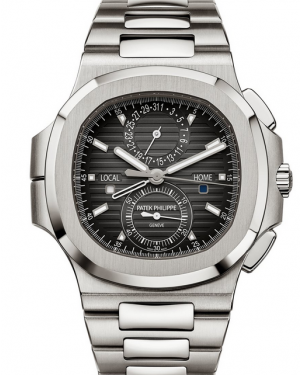 Patek Philippe 5990/1A-001 Nautilus 40.5mm Black Gradient Nautilus Travel Time Chronograph Steel