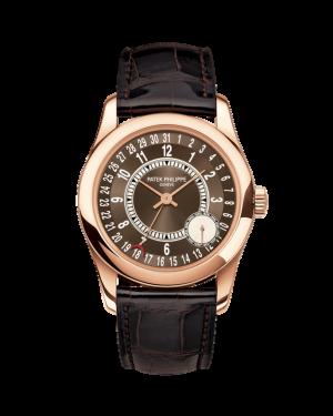 Patek Philippe 6000R-001 Calatrava 37mm Brown Arabic Date Rose Gold Leather BRAND NEW