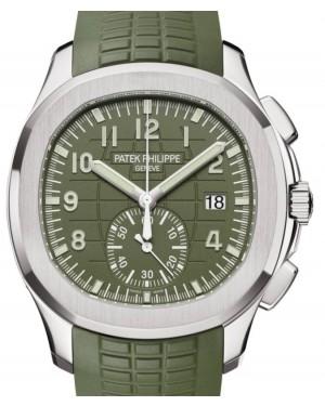 Patek Philippe Aquanaut Chronograph White Gold 42.2mm Khaki Green Dial 5968G-010 - BRAND NEW