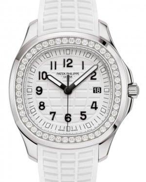 Patek Philippe Aquanaut Luce Quartz Stainless Steel Diamond 38.8mm White Dial Rubber Strap 5267/200A-010 - BRAND NEW