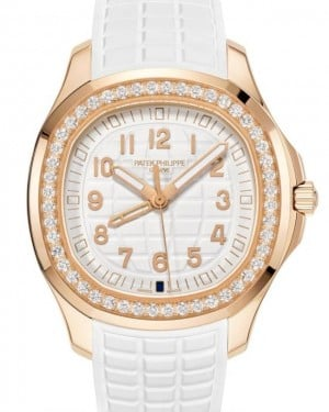 Patek Philippe Aquanaut Luce Travel Time Quartz Rose Gold Diamonds 38.8mm White Dial Rubber Strap 5269/200R-001 - BRAND NEW