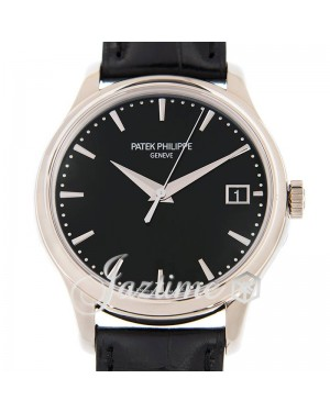 Patek Philippe Calatrava Automatic White Gold 39mm Black Index Date Leather 5227G-010 - BRAND NEW