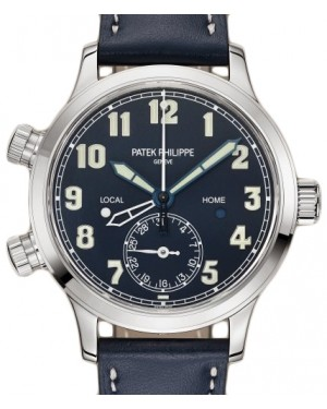 Patek Philippe Complications Calatrava Pilot Travel Time White Gold 37.5 mm Blue Dial 7234G-001 - BRAND NEW