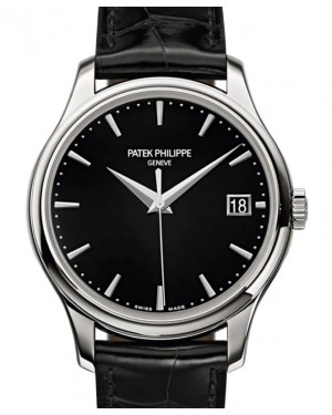 Patek Philippe Calatrava Sweep Seconds White Gold 39mm Black Dial Leather 5227G-010 - BRAND NEW