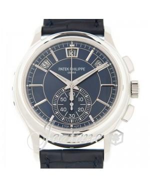 Patek Philippe Complications Annual Calendar Chronograph Platinum Blue Index Leather Strap 42mm 5905P-001 -  BRAND NEW