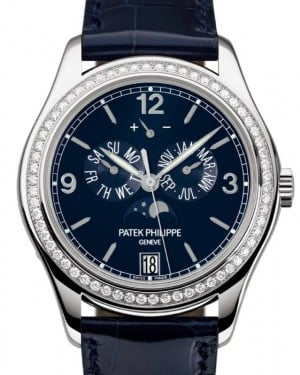 Patek Philippe Complications Annual Calendar Moon Phase White Gold 39mm Navy Blue Dial 5147G-001 - BRAND NEW