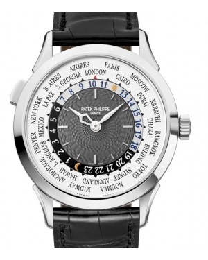 Patek Philippe Complications World Time White Gold 38.5mm Charcoal Gray Dial Leather 5230G-001 - BRAND NEW