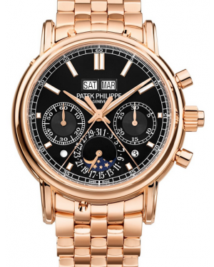 Patek Philippe Grand Complications Ebony Opaline Index Dial Rose Gold Bezel & Bracelet 40mm 5204/1R-001 - BRAND NEW