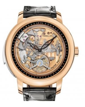 Patek Philippe Grand Complications Minute Repeater Tourbillion Rose Gold 42mm Skeleton Dial Leather Manual 5303R-001 - BRAND NEW