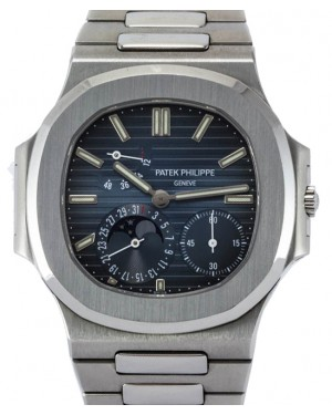 Patek Philippe Nautilus 3712/1A-001 39mm Blue Index Moon Phase Date Power Reserve Stainless Steel