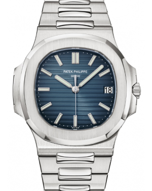 Patek Philippe Nautilus Black Blue Index Date Stainless Steel Automatic 40mm 5711/1A-010