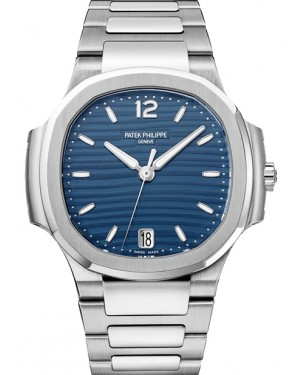 Patek Philippe Nautilus Ladies Blue Opaline Index Stainless Steel 35.2mm 7118/1A-001 - BRAND NEW