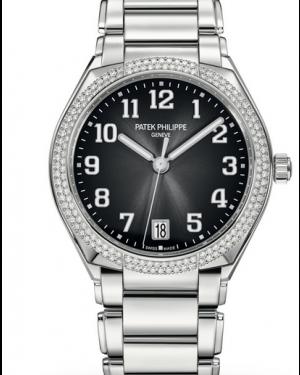 Patek Philippe Twenty~4 Ladies Grey Sunburst Arabic Dial Diamond Bezel Stainless Steel Bracelet 36mm 7300/1200A-010 - BRAND NEW
