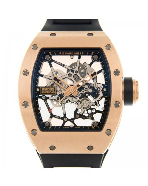"Richard Mille Americas ""Gold Toro"" Rose Gold Skeleton Dial Rubber 40mm RM035"