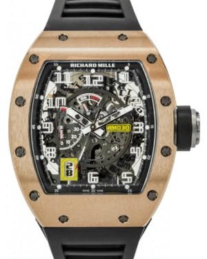 Richard Mille Declutchable Rotor Rose Gold Skeleton Dial Rubber Strap RM030