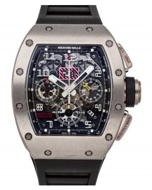 """Richard Mille Flyback Chronograph """"Felipe Massa"""" Titanium Skeleton Dial Rubber StrapRM011"""