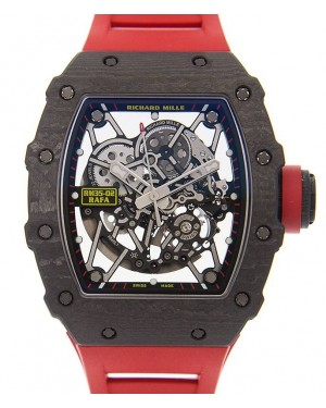 "Richard Mille ""Rafael Nadal"" Carbon Skeleton Dial Rubber Strap RM35-02 - PRE-OWNED"