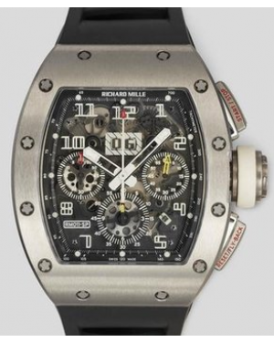 Richard Mille Spain Edition Flyback Chronograph DLC Titanium Skeleton Dial Rubber RM011