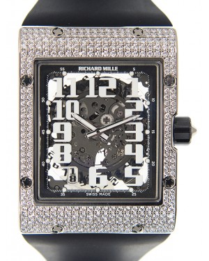 Richard Mille RM016-AJ WG White Gold Black Automatic Arabic BRAND NEW